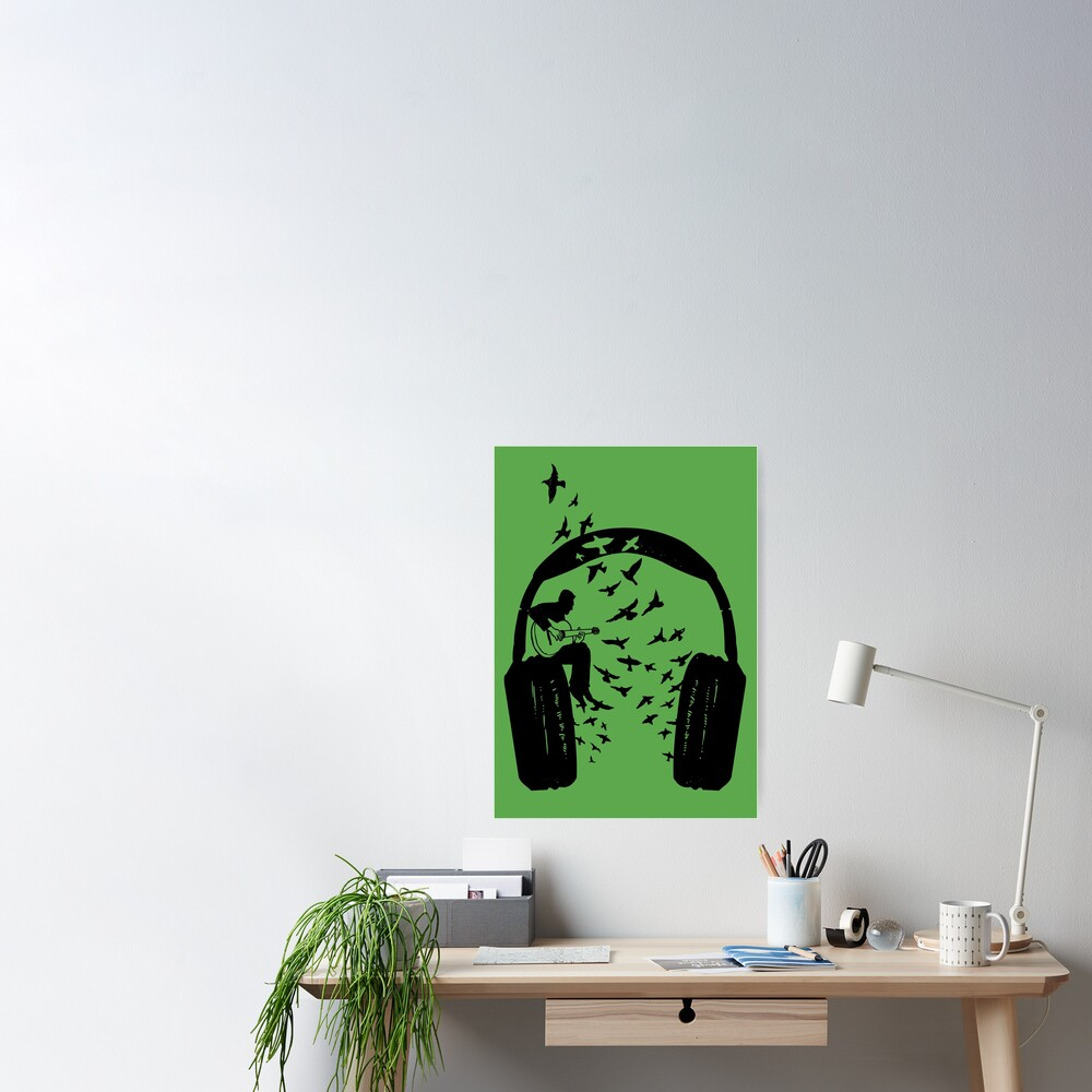 Headphone - guitar Poster