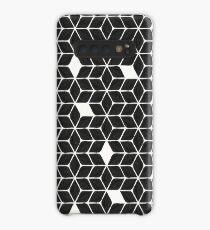 Weihnachtsstern-Sterne - schwarze Palette Hülle & Klebefolie für Samsung Galaxy