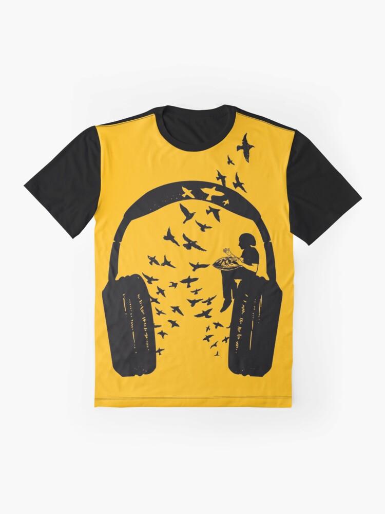 Alternate view of Headphone - Hang Drum Graphic T-Shirt