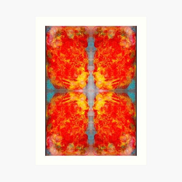 oil pastel abstract digital pattern decided Art Print