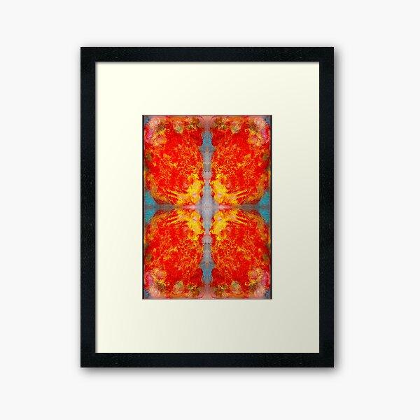 oil pastel abstract digital pattern decided Framed Art Print