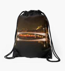 Pont Maréchal Juin at night, Lyon, France Drawstring Bag