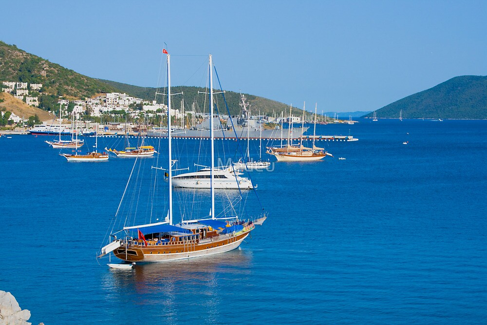 Landscape on sea from city Bodrum   by Medeu