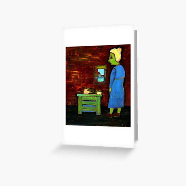 the little old woman Greeting Card