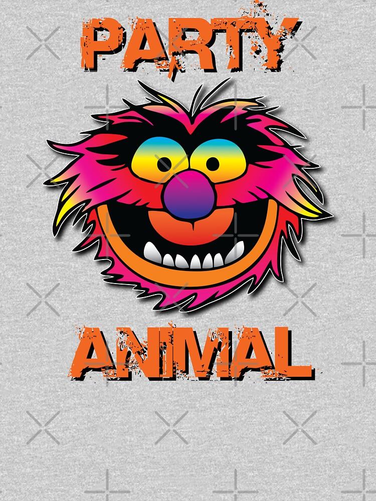 Party Animal Muppet - Orange by Hunter54nz