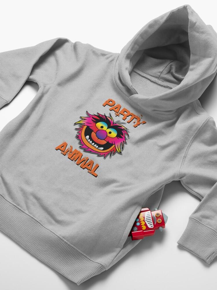Alternate view of Party Animal Muppet - Orange Toddler Pullover Hoodie