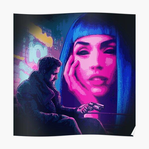 Blade Runner 2049 - Joi et Joe - oeuvre hologramme fille Cyberpunk Poster