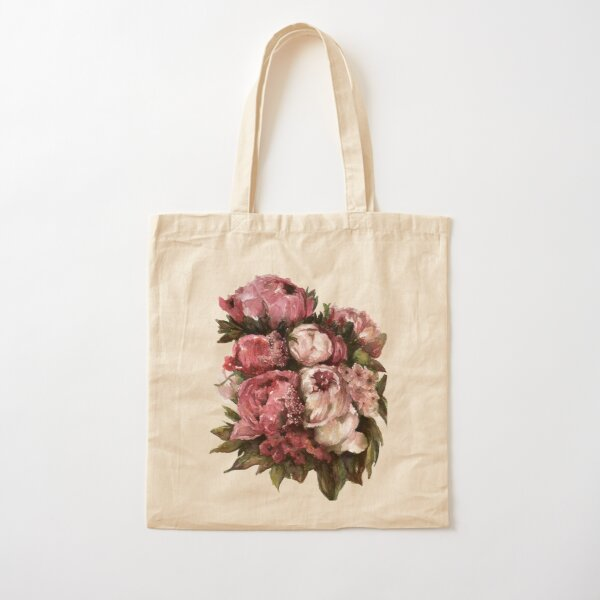 Peony Bouquet Cotton Tote Bag
