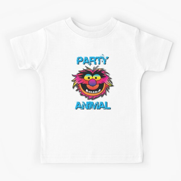Party Animal Muppet - Blue Kids T-Shirt