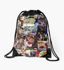 Glee Collage Lea ,Darren, Chris Drawstring Bag