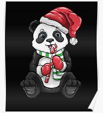 Panda Bear Kids Christmas Gift Sweet Panda Poster