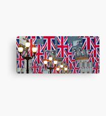 London. Regent Street. Royal Wedding Flags. (Alan Copson ©) Canvas Print