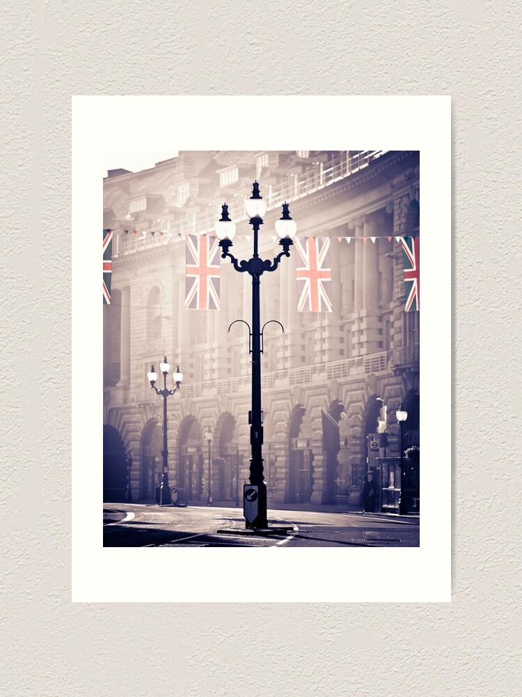 Alternate view of London. Regent Street. Royal Wedding Flags. Art Print