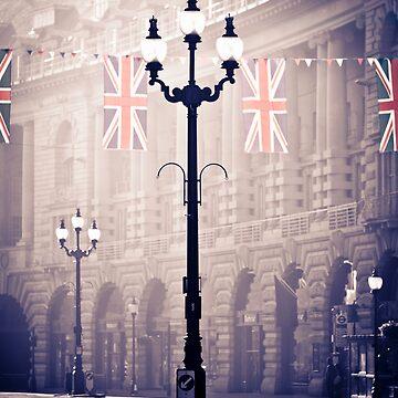 London. Regent Street. Royal Wedding Flags. by AlanCopson