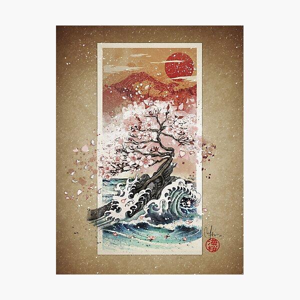Sakura blossom waves Photographic Print