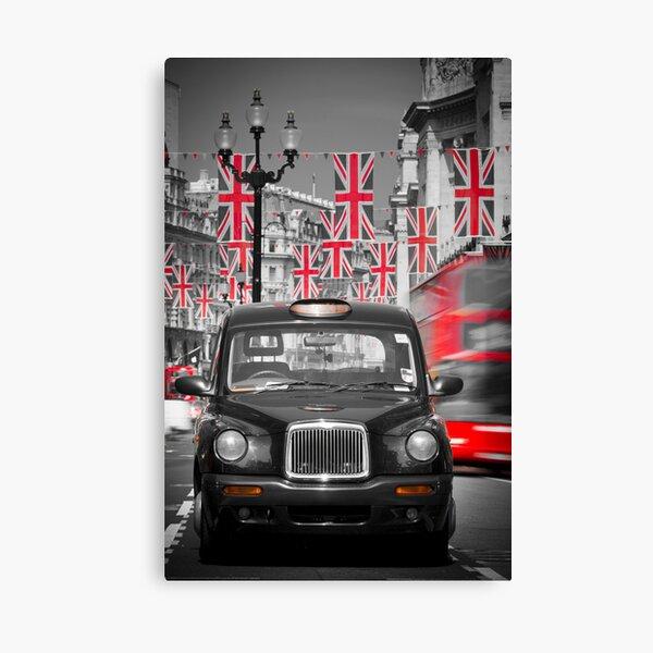 UK. London. Regent Street. Union Jack decorations for Royal Wedding.(Alan Copson ©) Canvas Print