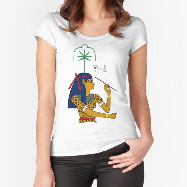 SESCHAT I Göttin Ägypten Schreiberin Tailliertes Rundhals-Shirt