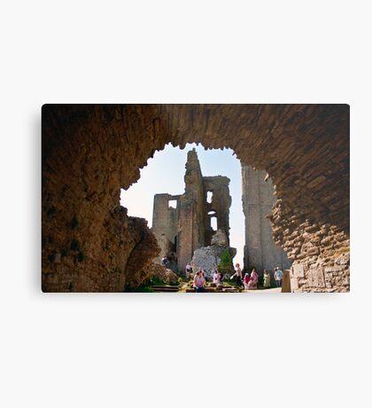 Corfe Castle Arch Metal Print