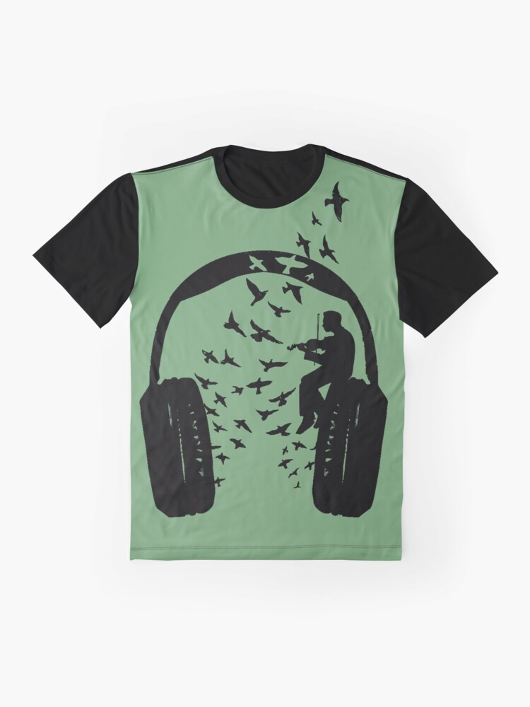 Alternate view of Headphone - Violin Graphic T-Shirt