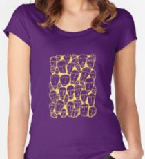 Caras amarillas Women's Fitted Scoop T-Shirt