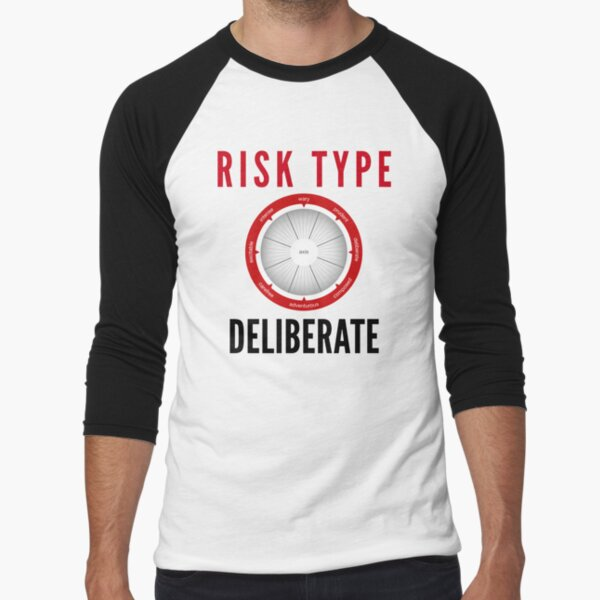 Risk Type Compass Deliberate T Shirt Baseball ¾ Sleeve T-Shirt