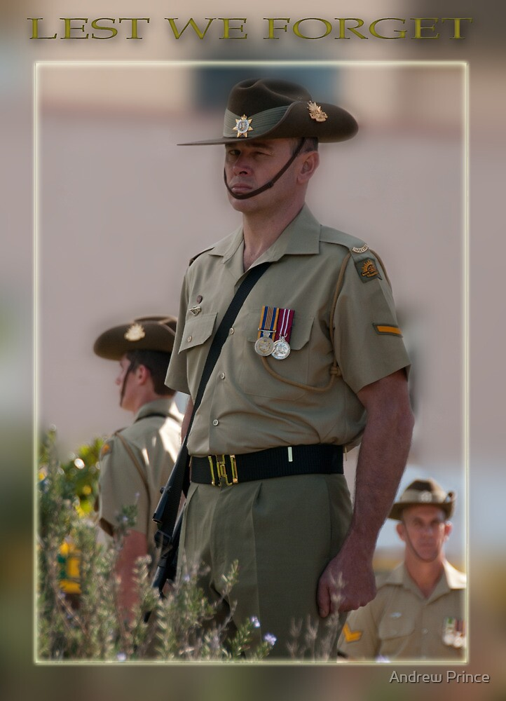 Standing Guard Anzac Day Taree 2011 by Andrew Prince