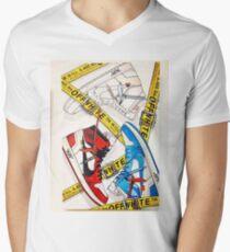Off White Snikers V-Neck T-Shirt