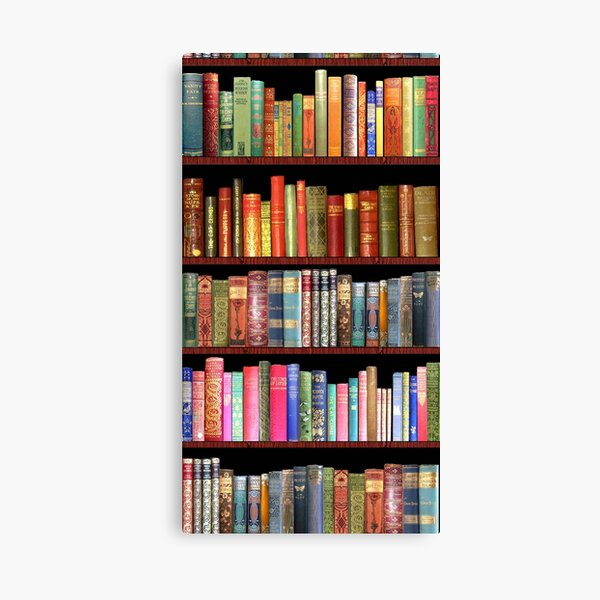 Bookworms Delight / Antique Book Library for Bibliophile Canvas Print