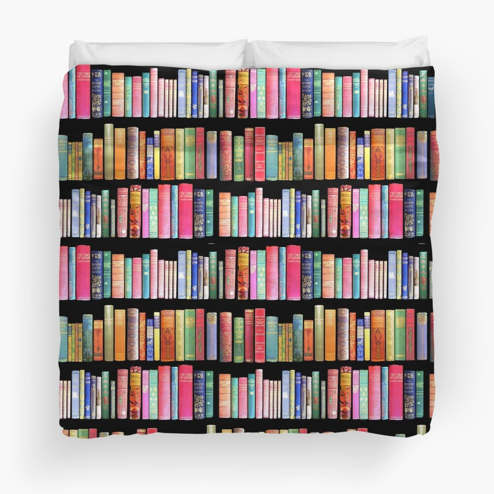 Bookworms Delight / Antique Book Library for Bibliophile Duvet Cover