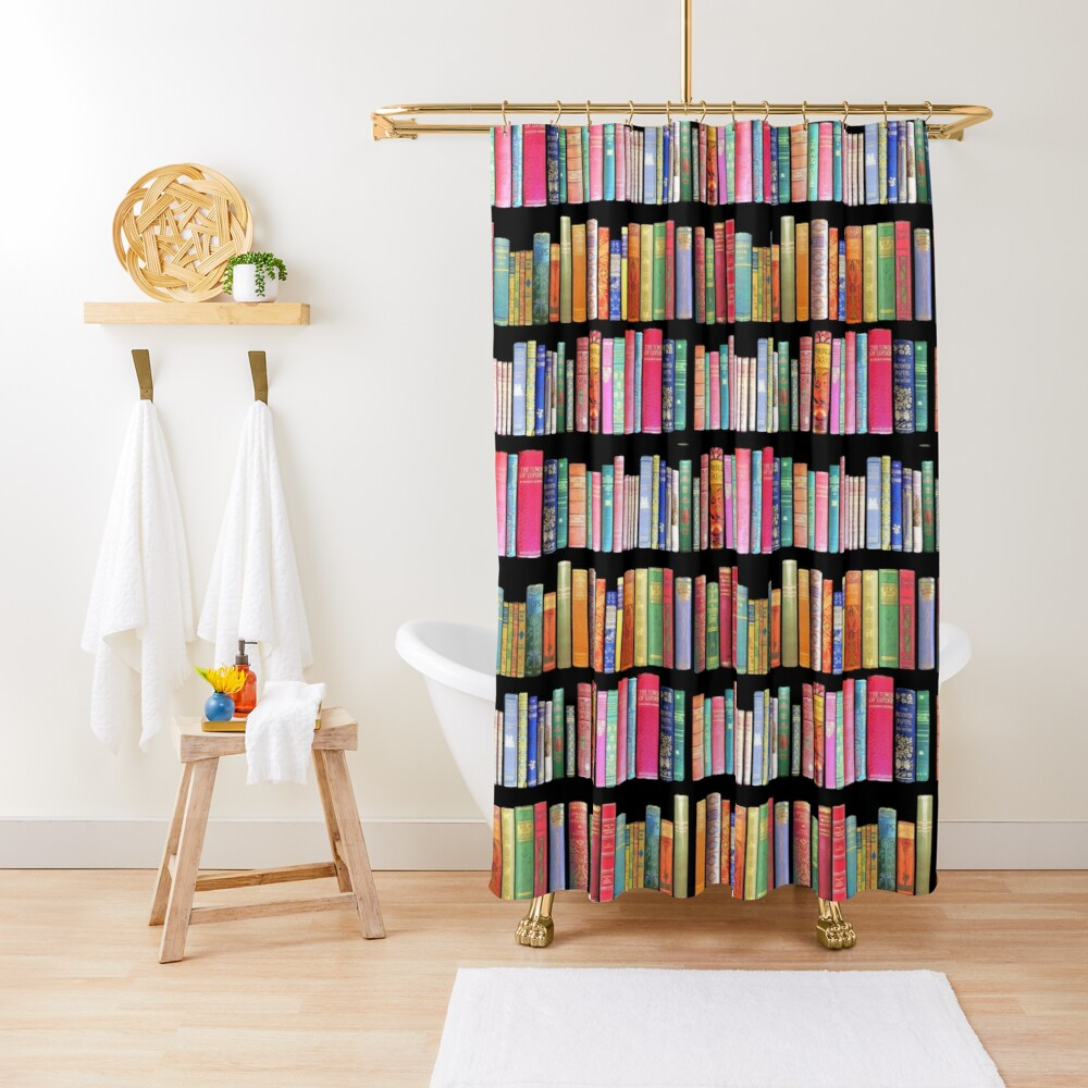 Bookworms Delight / Antique Book Library for Bibliophile Shower Curtain