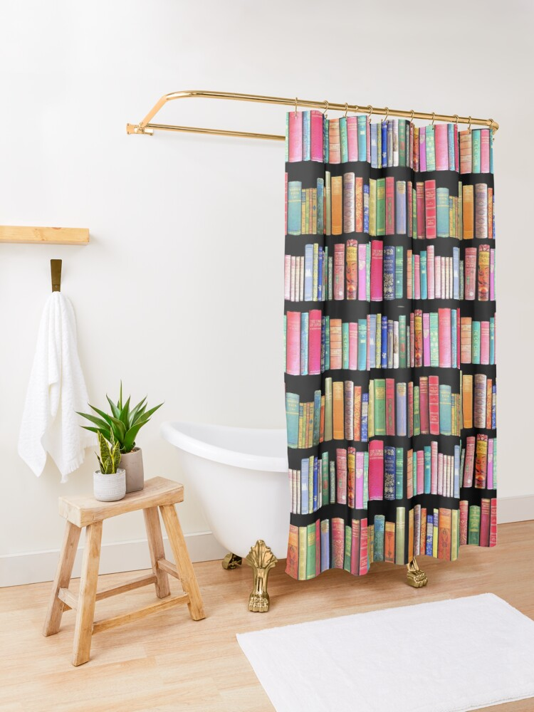Alternate view of Bookworms Delight / Antique Book Library for Bibliophile Shower Curtain