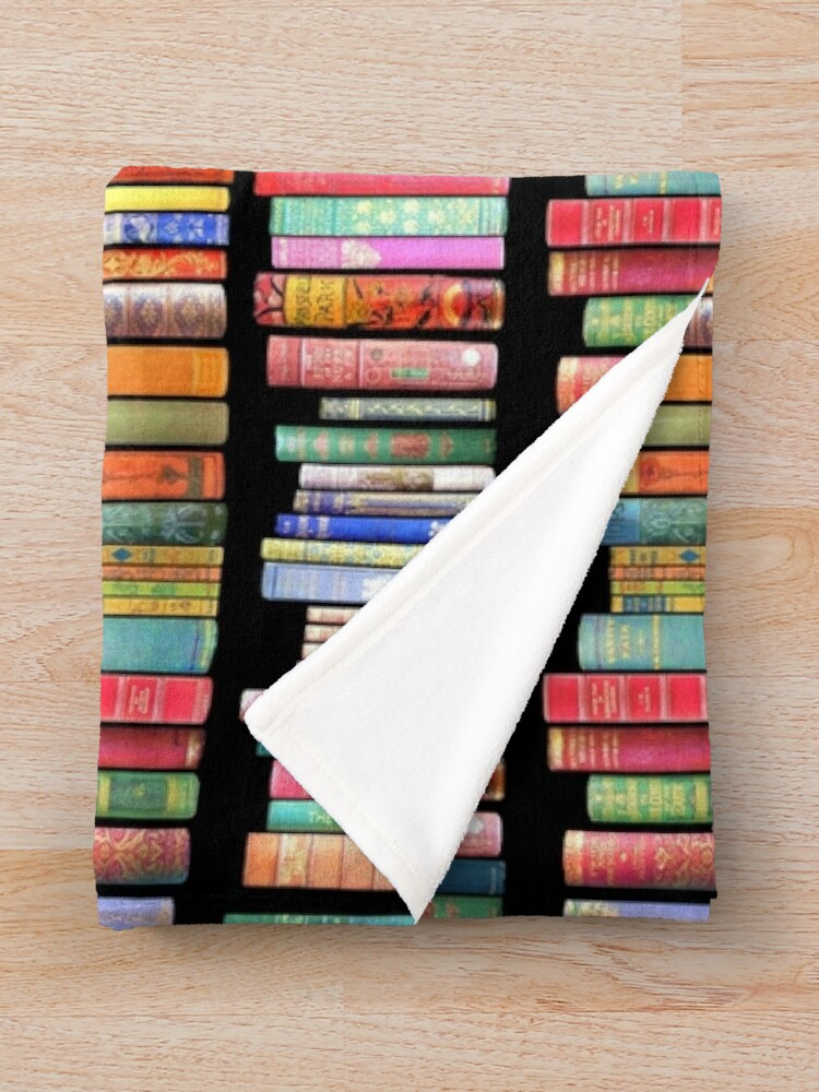 Alternate view of Bookworms Delight / Antique Book Library for Bibliophile Throw Blanket