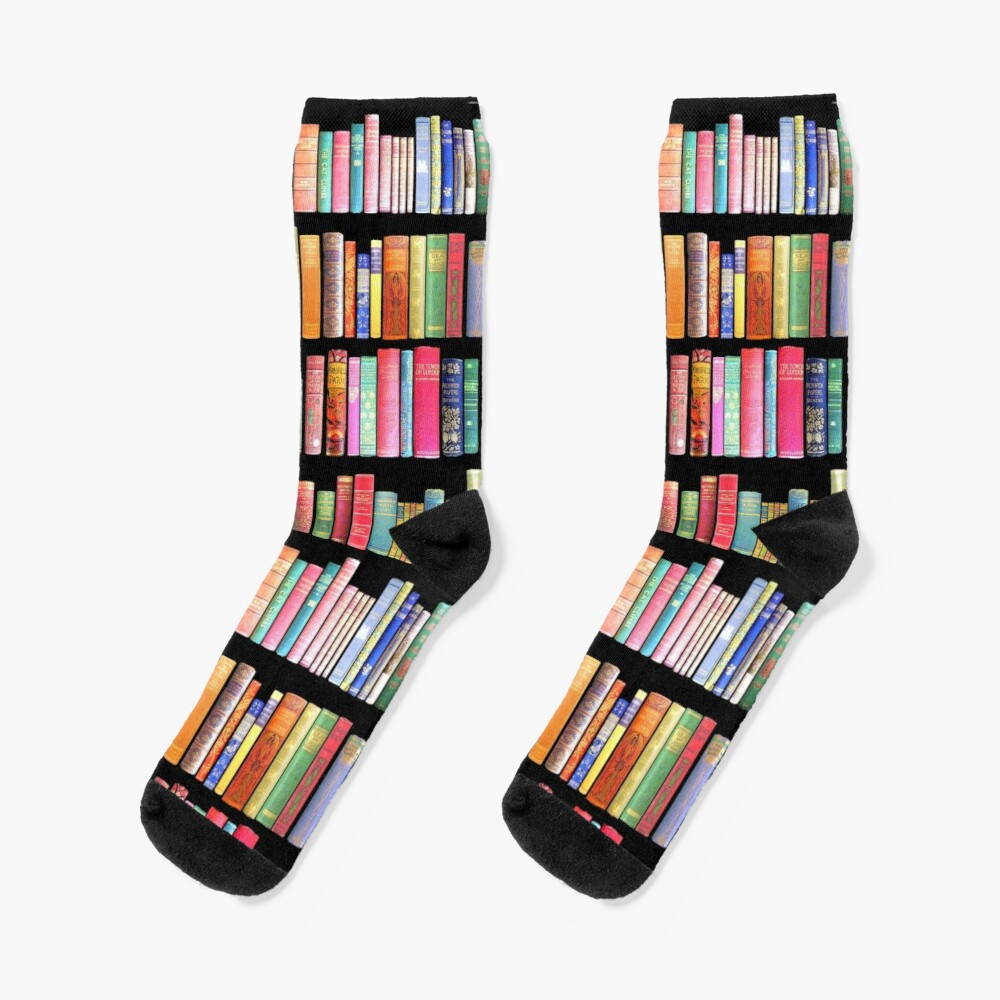 Bookworms Delight / Antique Book Library for Bibliophile Socks