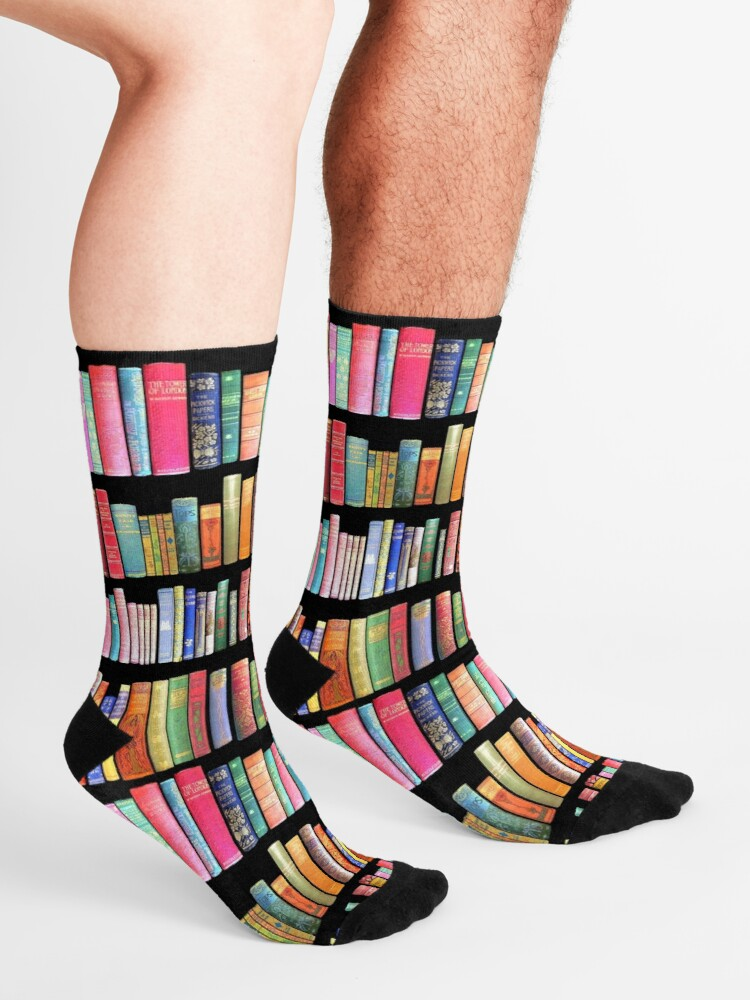 Alternate view of Bookworms Delight / Antique Book Library for Bibliophile Socks