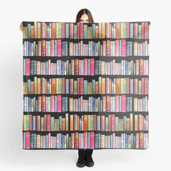 Bookworms Delight / Antique Book Library for Bibliophile Scarf