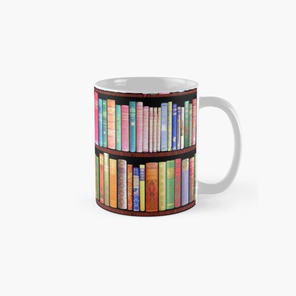 Bookworm Antique book library, vintage book shelf Classic Mug