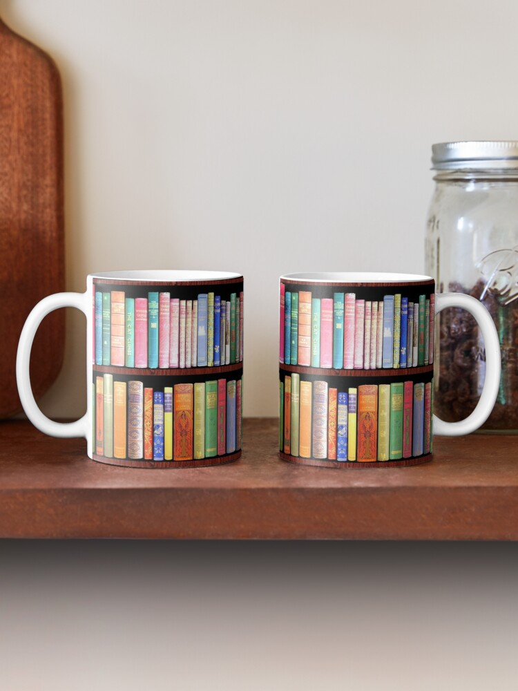 Alternate view of Bookworm Antique books Mug