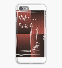 Illustration of a boulevard in Paris at night. For t-shirt or other uses,in vector - stock vector iPhone Case/Skin