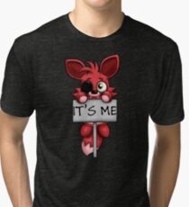 FNAF Plush Foxy Tri-blend T-Shirt