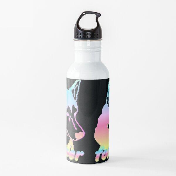 Husky Kopf forever Regenbogen Trinkflasche