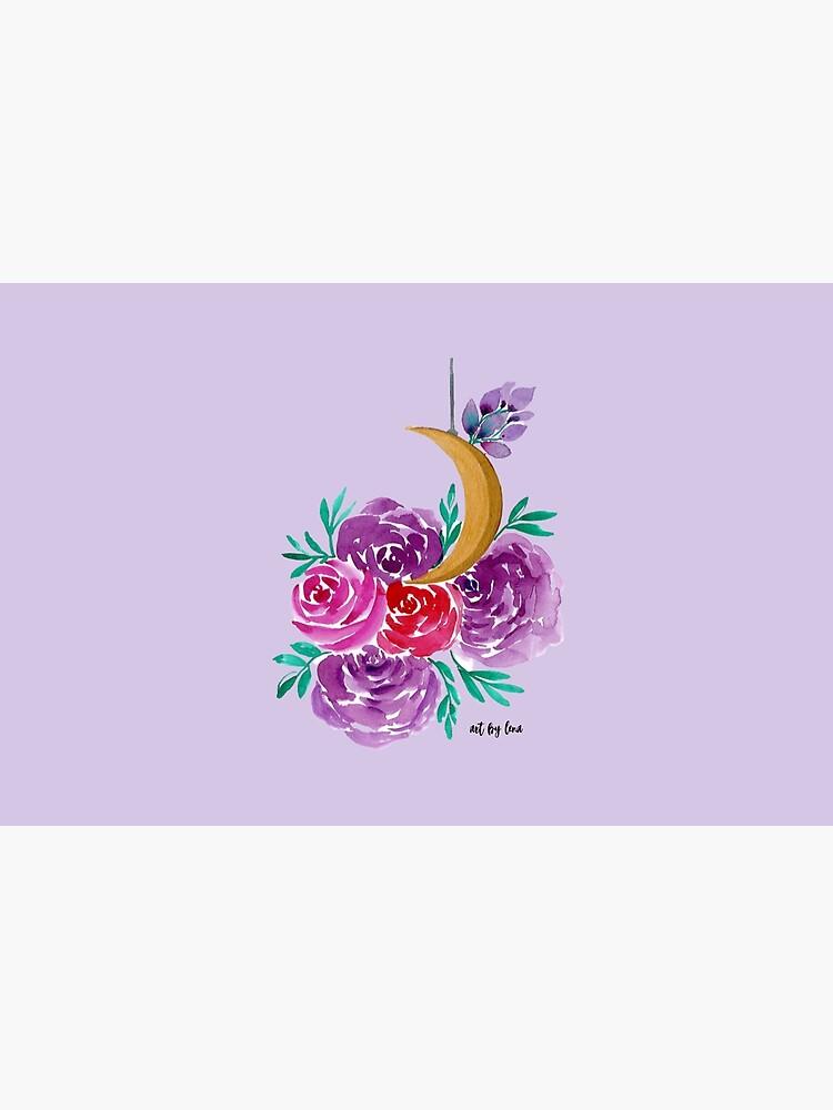 Floral Moon by artbylenashop