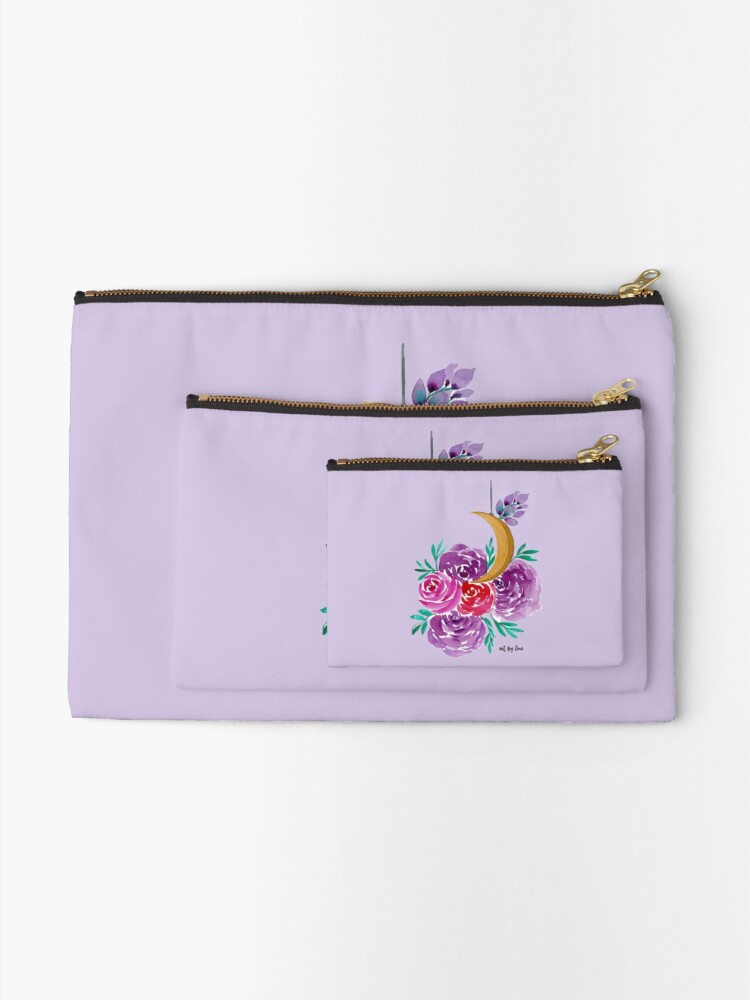 Alternate view of Floral Moon Zipper Pouch