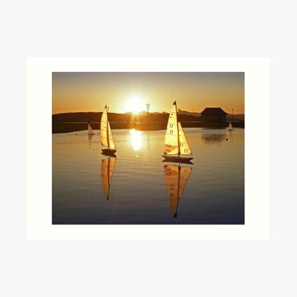 Aubery Yachts Sunset Art Print