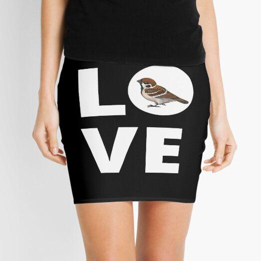 Sparrow Lover Sparrow Girl's  Sparrow Mama Sparrows Gift for Her Sparrow Silhouette  Mini Skirt