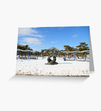 South Beach in the Snow Greeting Card
