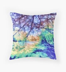 Down by the riverside ....... Throw Pillow