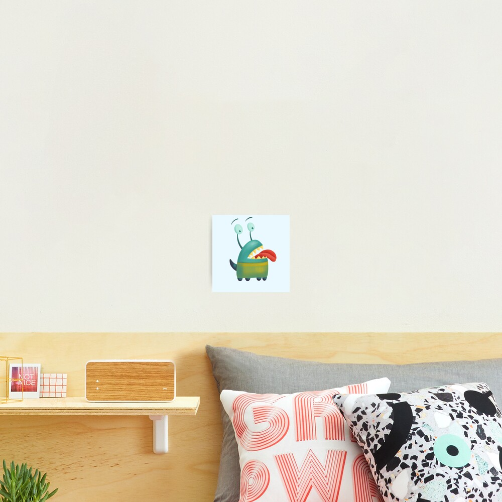 Lovesick monster sticking tongue out Photographic Print