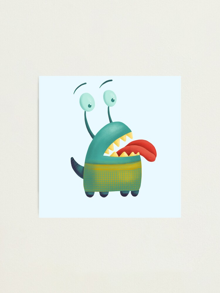 Alternate view of Lovesick monster sticking tongue out Photographic Print