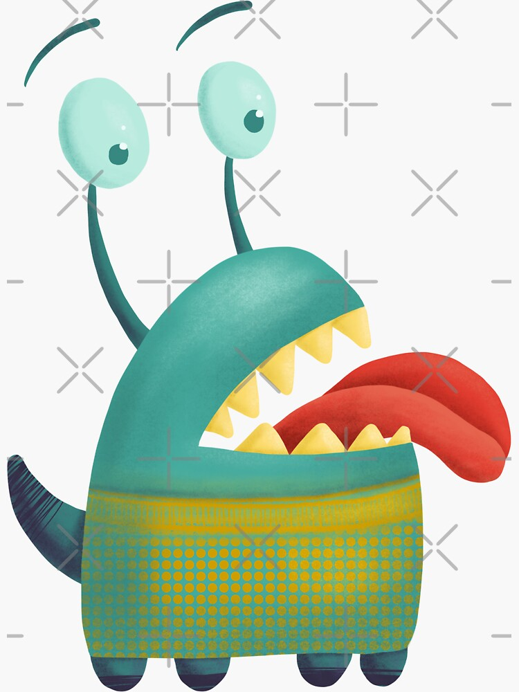 Lovesick monster sticking tongue out by nobelbunt