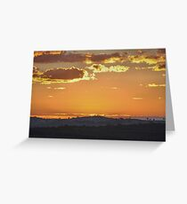 Before Sunrise - Bald Hill, Hill End NSW Australia Greeting Card